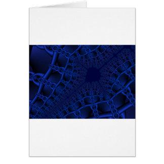 Electric Blue fractal Card