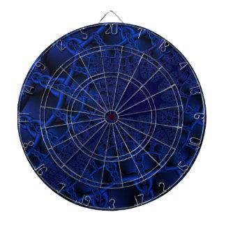 Electric Blue fractal Dartboard