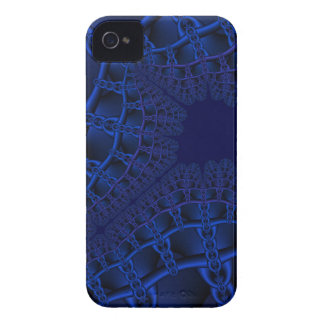 Electric Blue fractal iPhone 4 Cases