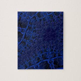 Electric Blue fractal Jigsaw Puzzle
