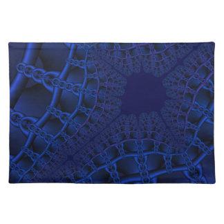 Electric Blue fractal Placemat