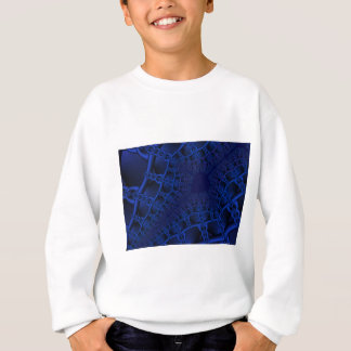 Electric Blue fractal Sweatshirt