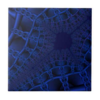 Electric Blue fractal Tile