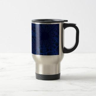 Electric Blue fractal Travel Mug
