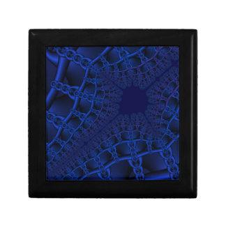 Electric Blue fractal Trinket Boxes