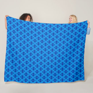 Electric Blue Ghost Diamond Satin Pattern Fleece Blanket