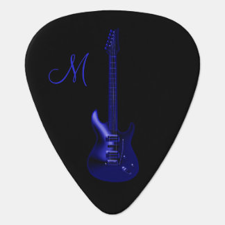 Electric Blue Guitar Guitar Pick