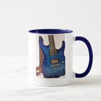 Electric Blue Guitar Mug