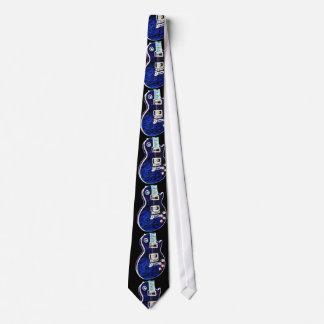 Electric Blue Guitar Tie
