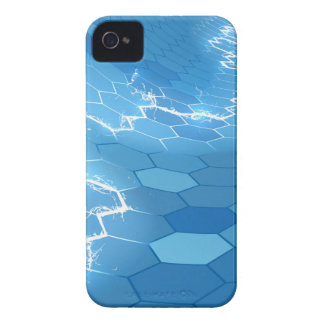 Electric Blue Honeycomb Hexagon Background iPhone 4 Case-Mate Case