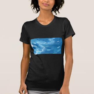 Electric Blue Honeycomb Hexagon Background T-Shirt