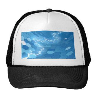 Electric Blue Honeycomb Hexagon Background Trucker Hat