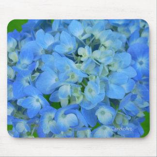 Electric Blue Hydrangeas Mouse Pad