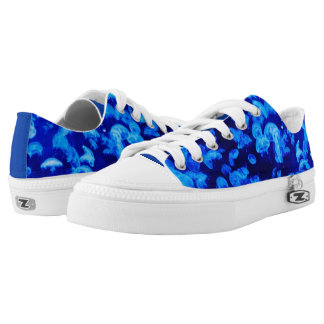Electric blue jelly fish Low-Top sneakers