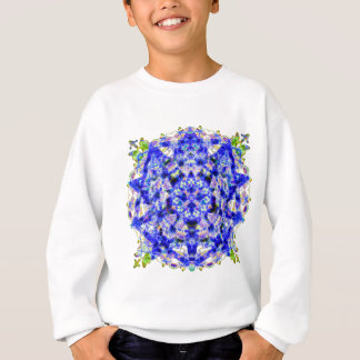 Electric Blue Jewel Mandala Sweatshirt