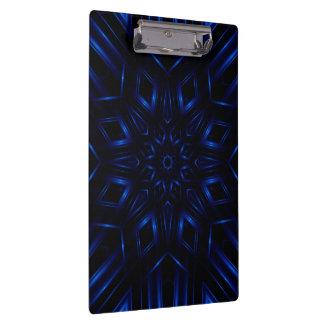 Electric Blue Kaleidoscope Clipboard