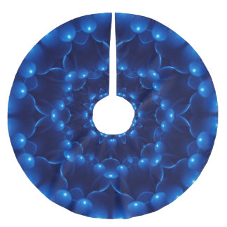 Electric Blue Kaleidoscope Tree Skirt