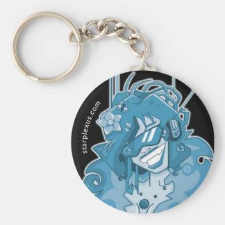 electric blue keychain