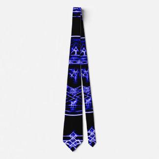Electric Blue King Solomon Water Magick Circle Tie