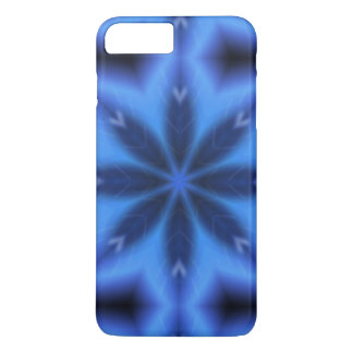 Electric Blue Leaves iPhone 7 Plus Case