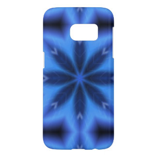 Electric Blue Leaves Samsung Galaxy S7 Case