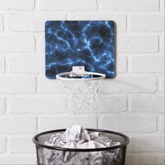 Electric blue mini basketball backboard
