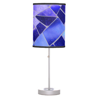 Electric blue mosaic table lamp