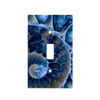 electric blue nautilus light switch cover