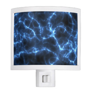 Electric blue night light