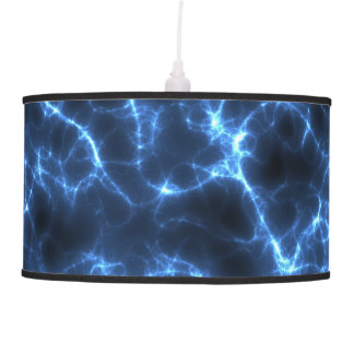 Electric blue pendant lamp