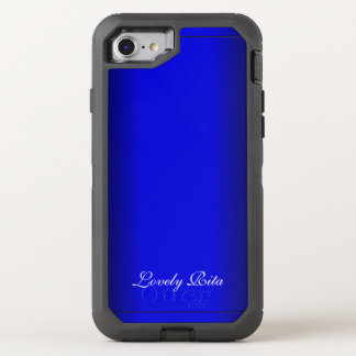 Electric Blue Personal OtterBox Defender iPhone 8/7 Case