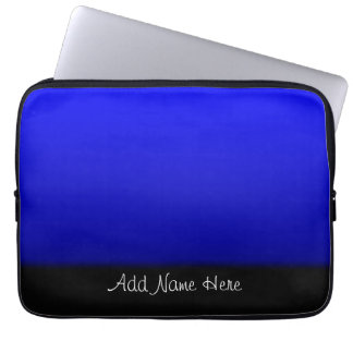 Electric Blue Personalized Laptop Sleeve