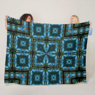 Electric Blue Satin Foulard Pattern Fleece Blanket