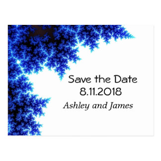 Electric Blue Save the Date Postcard