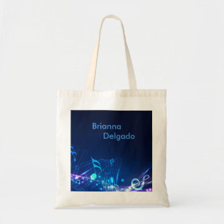 Electric Blue Sheet Music Tote Bag