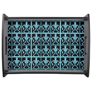 Electric blue skeleton serving tray