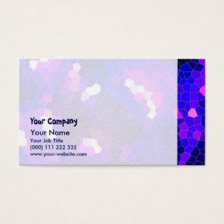 Electric blue stained glass business card