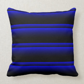 Electric Blue Stripes Throw Pillow
