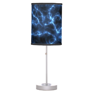 Electric blue table lamp