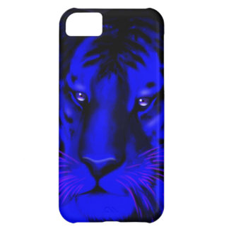 Electric Blue Tiger iPhone 5C Covers