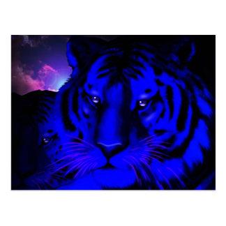 Electric Blue Tiger Postcard