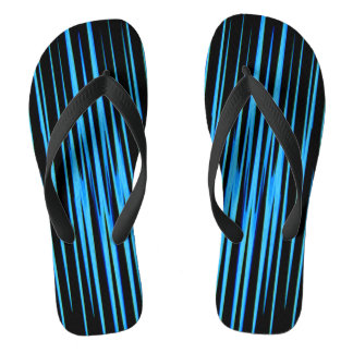 ELECTRIC BLUE TILE (an abstract art design) ~ Flip Flops