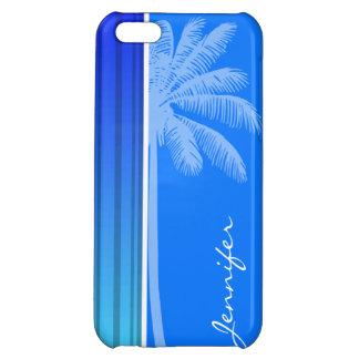 Electric Blue Vertical Stripes; Striped; Palm iPhone 5C Cases