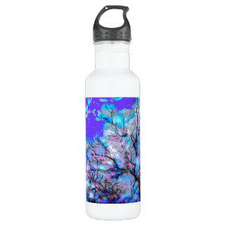 Electric Blue Water Bottle