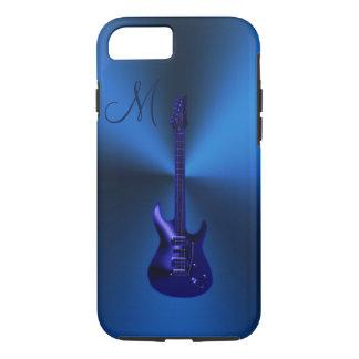 Electric Blues Guitar Monogram iPhone 7 Plus Case