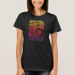 Electric Blues Vintage Rock Poster T-shirt