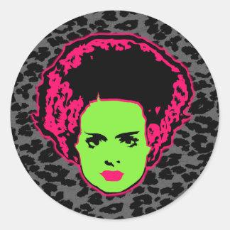 Electric Bride Round Sticker