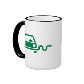 Electric car ringer coffee mug