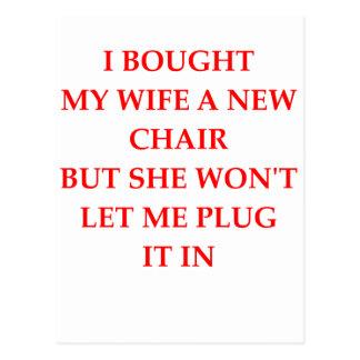 electric chair postcard