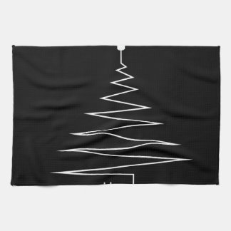 Electric Christmas tree Kitchen Towel